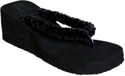 Remson India Women Black Wedges