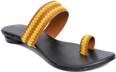 Indirang Women Yellow Flats