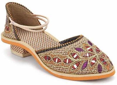 Paduki Ethnic Women Multicolor Flats