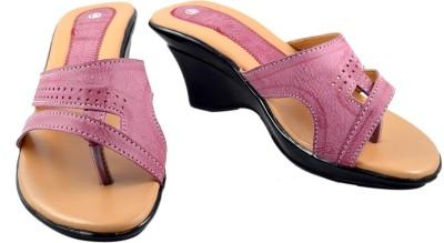 Walk N See Women Pink Wedges