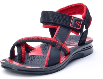 Pu-Rocks Men Black, Red Sandals
