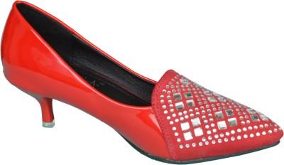Ladela Women Red Heels at flipkart