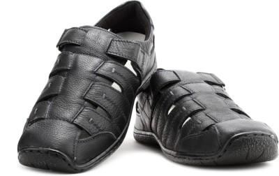 Hush Puppies Oily Fisherman Men Black Sandals