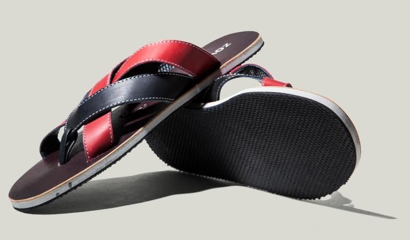 Zovi Men Red, Black Sandals