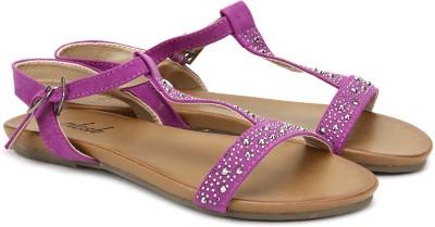 Plosh Women Purple Flats