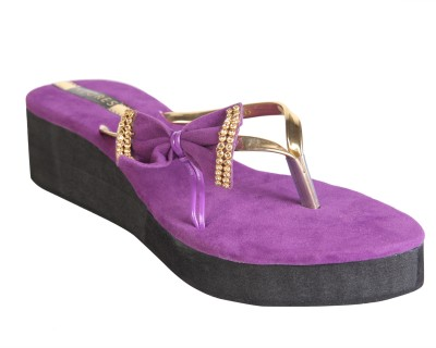 Azores Women Purple Wedges