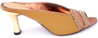 Cozy Women Gold Heels