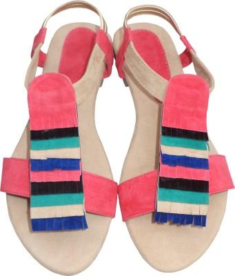 folknation Women Pink Flats