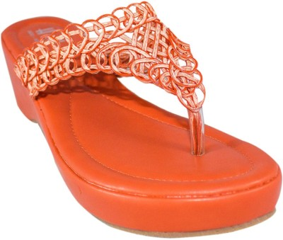 Heels & Handles Women Orange Wedges