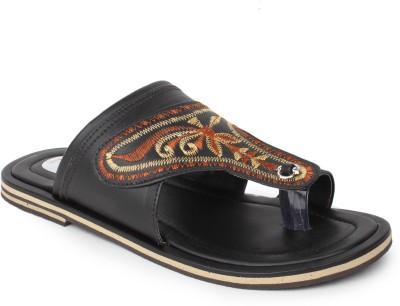 Do Bhai Kolapuri-8862 Men Black Sandals