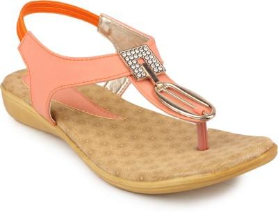 Ortan Women Orange Flats