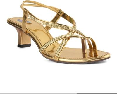 Womens Club Girls Gold Sandals