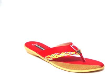 CANDYBOX Women Red Flats