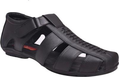 John Karsun Men Black Sandals