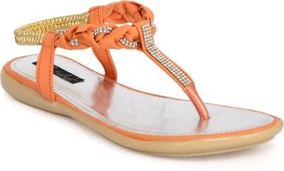 Funku Fashion Women Orange, Orange Flats