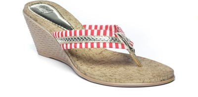 Pavers England Women Pink Wedges