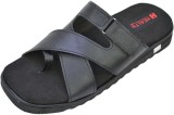 Health Line Men Black Sandals