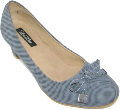 Raw Hide Women Blue Heels
