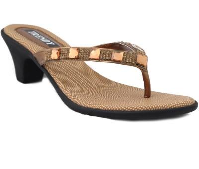 Trendy Enterprises Women Gold Heels