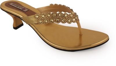 Indulgence Dazzling Diva Ethnic Women Gold Heels