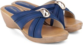 Bata Women Blue Wedges