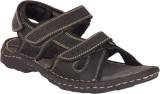 Invixo Men Black Sandals