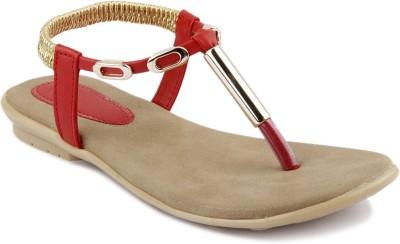 Womens Club Girls Red Sandals