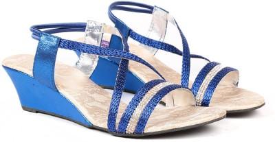Ka Fashion Women Blue Wedges