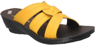 Action Shoes Women Yellow Wedges