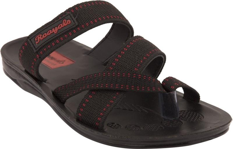 Roayals Men Black::Red Sandals