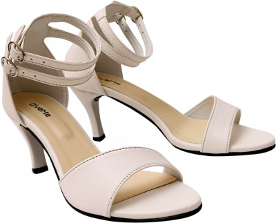 DivaMe Women White Heels