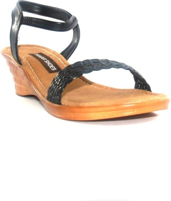 Pawar Women Black Wedges