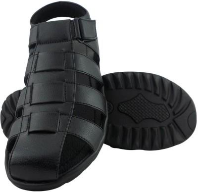 Elvace 4001 Men Black Sandals