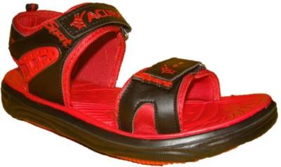 Nitin Footwear Men Black, Red Sandals