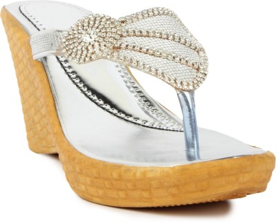 Star Style Women White Wedges
