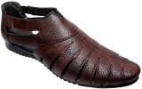 Dot-9 Men Brown Sandals