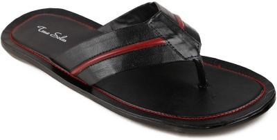 True Soles Men Black Sandals