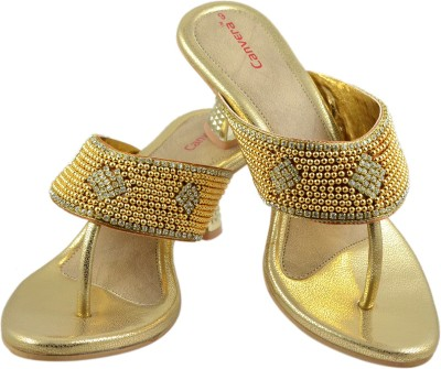 Canvera Women Gold Heels