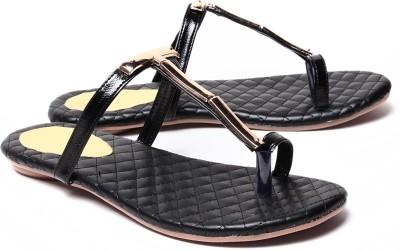 Dezire Women Black, Gold Flats