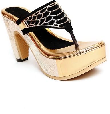 Royal Footwear Women Black Heels