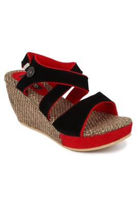 cute feet Women Multicolor Wedges