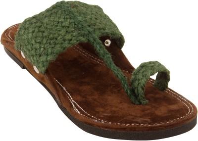 Footrendz Men Green Sandals