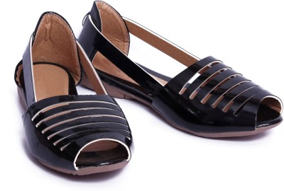 Pu-Good Women Black Flats