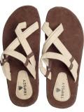 Tripssy Men Brown & Cream Sandals