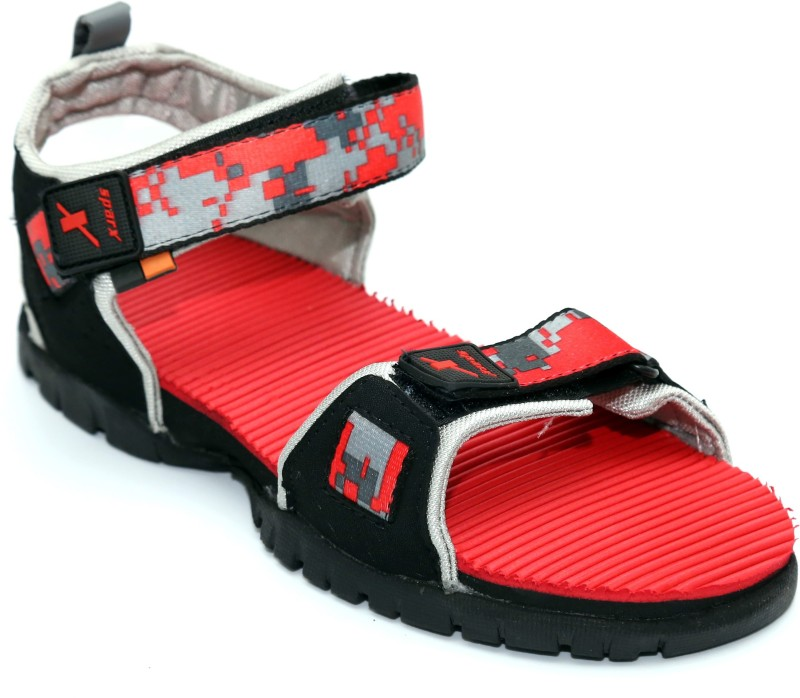 Sparx Men Black Sandals