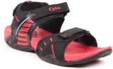 Cyke Men Black::Red Sandals