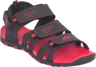 Asian Shoes Men Black, Red Sandals