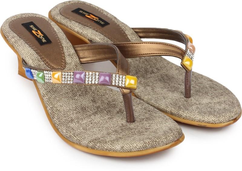 Shezone Women Brown Heels