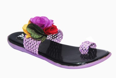 Primes Girls Purple, Multicolor Sandals
