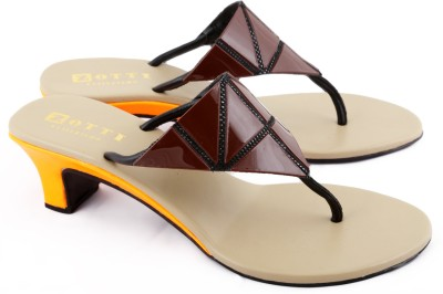 Zotti May Women Brown, Orange Heels